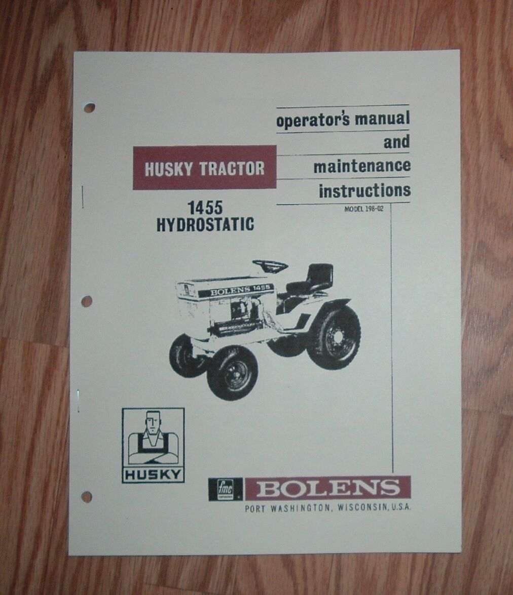 Bolens 1455 Husky Hydro Tractor Owners Manual 1 of 1Only 1 available ...