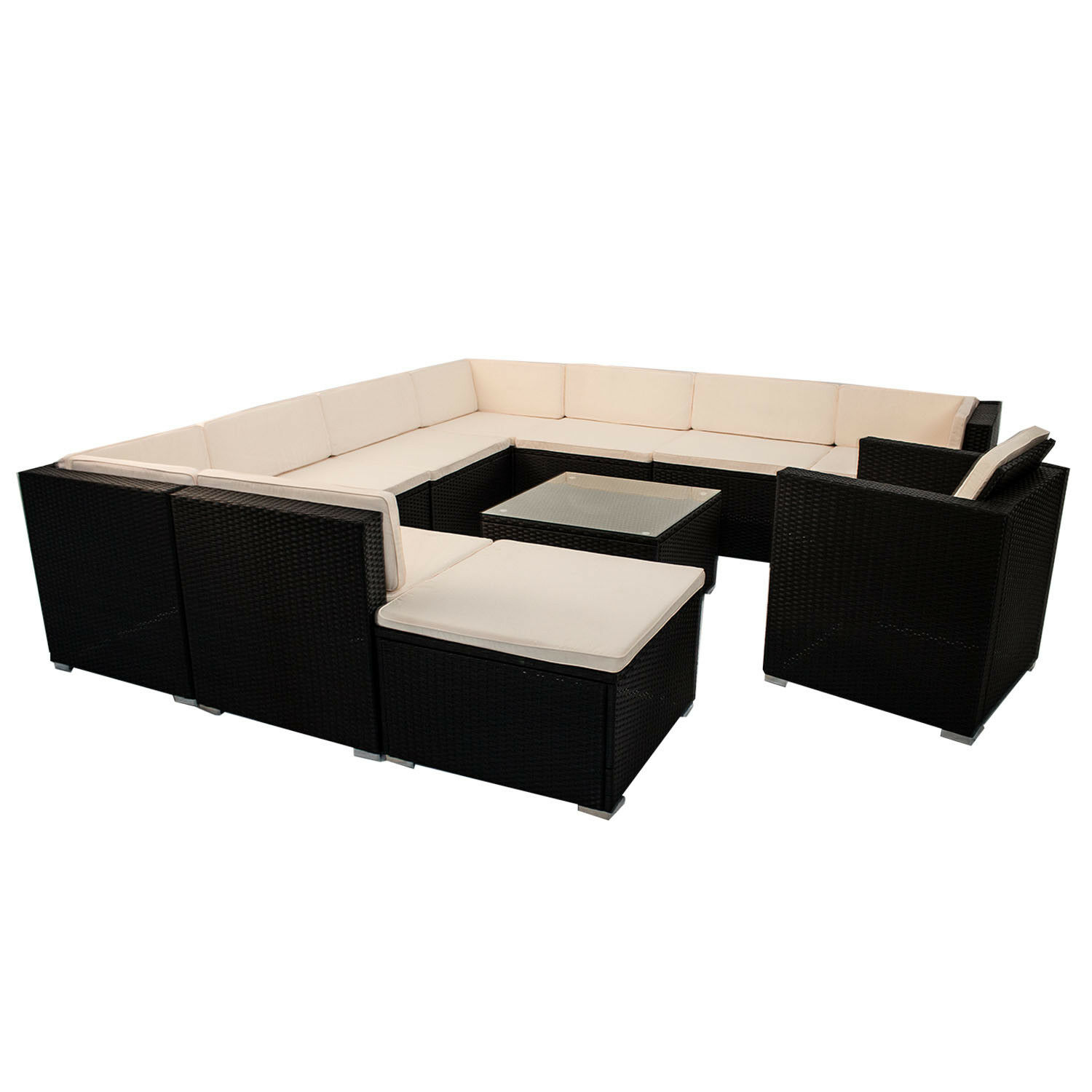 polyrattan gartenm bel lounge rattan gartenset design sitzgruppe rattanm bel top eur 599 95. Black Bedroom Furniture Sets. Home Design Ideas