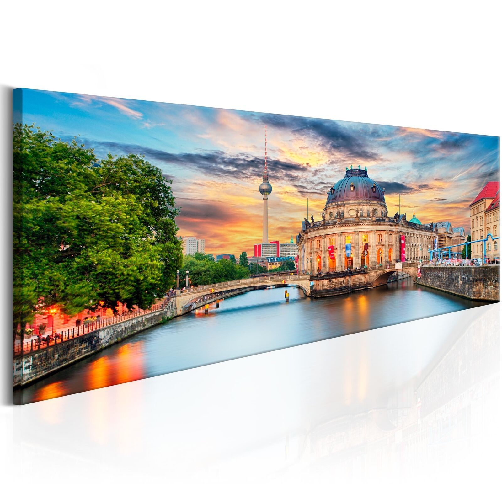 leinwand bilder xxl kunstdruck wandbild berlin fernesehturm stadt d b 0163 b a eur 26 90. Black Bedroom Furniture Sets. Home Design Ideas
