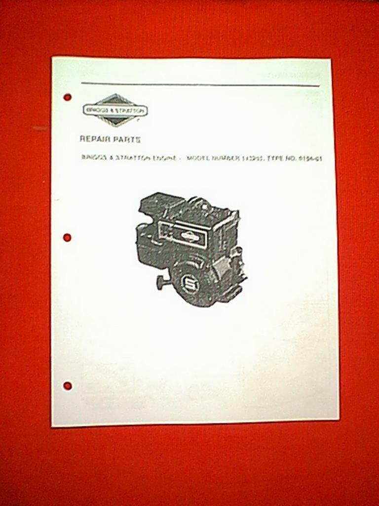 Briggs Stratton 5 Hp Horizontal Engine Model 133202 Parts Manual And Diagram 1 Of See More