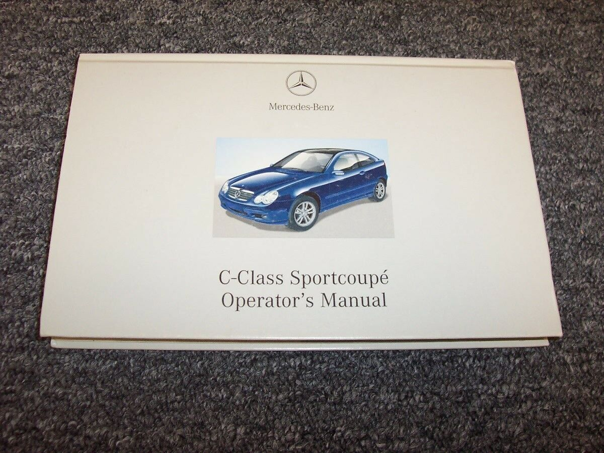 2002 Mercedes Benz C230 Kompressor C-Class Sportscoupe Owner Operator Manual  1 of 1Only 1 available ...