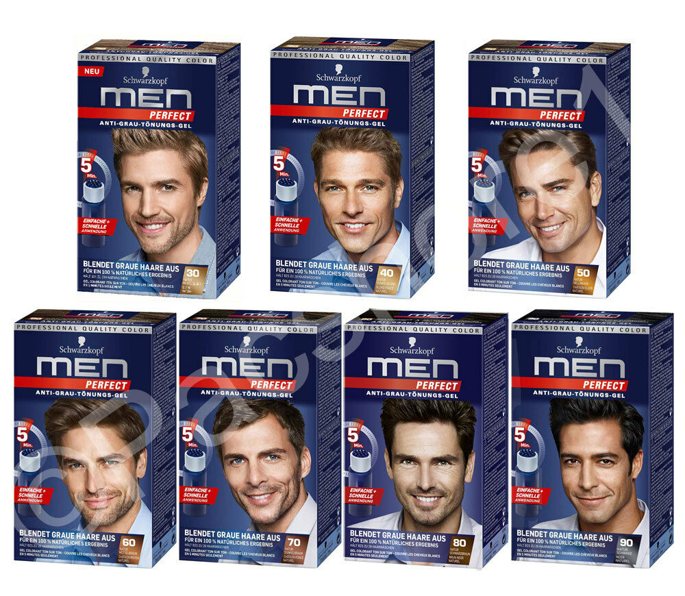 Schwarzkopf Men Perfect Anti Grey Hair Mens Natural Hair Color Gel