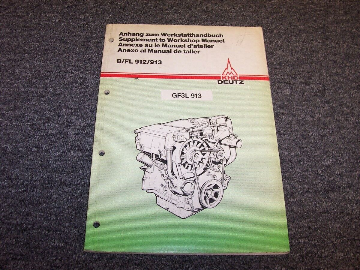 KHD Deutz GF3L913 Industrial Engine WorkShop Shop Service Repair Manual  Book 1 of 1Only 1 available ...