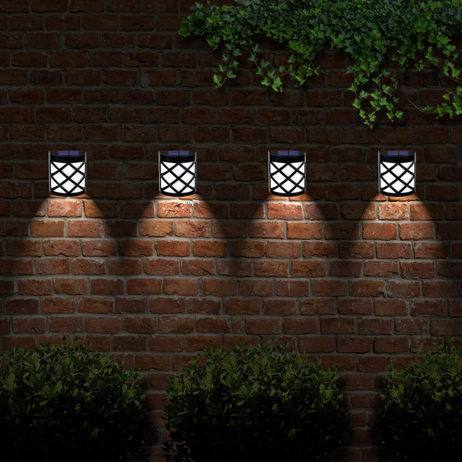 Solar Lights For Retaining Wall : 6xSolar Powered Outdoor Garden Shed Door Fence Wall Led Lights Bright Lighting EUR 21,57 ...