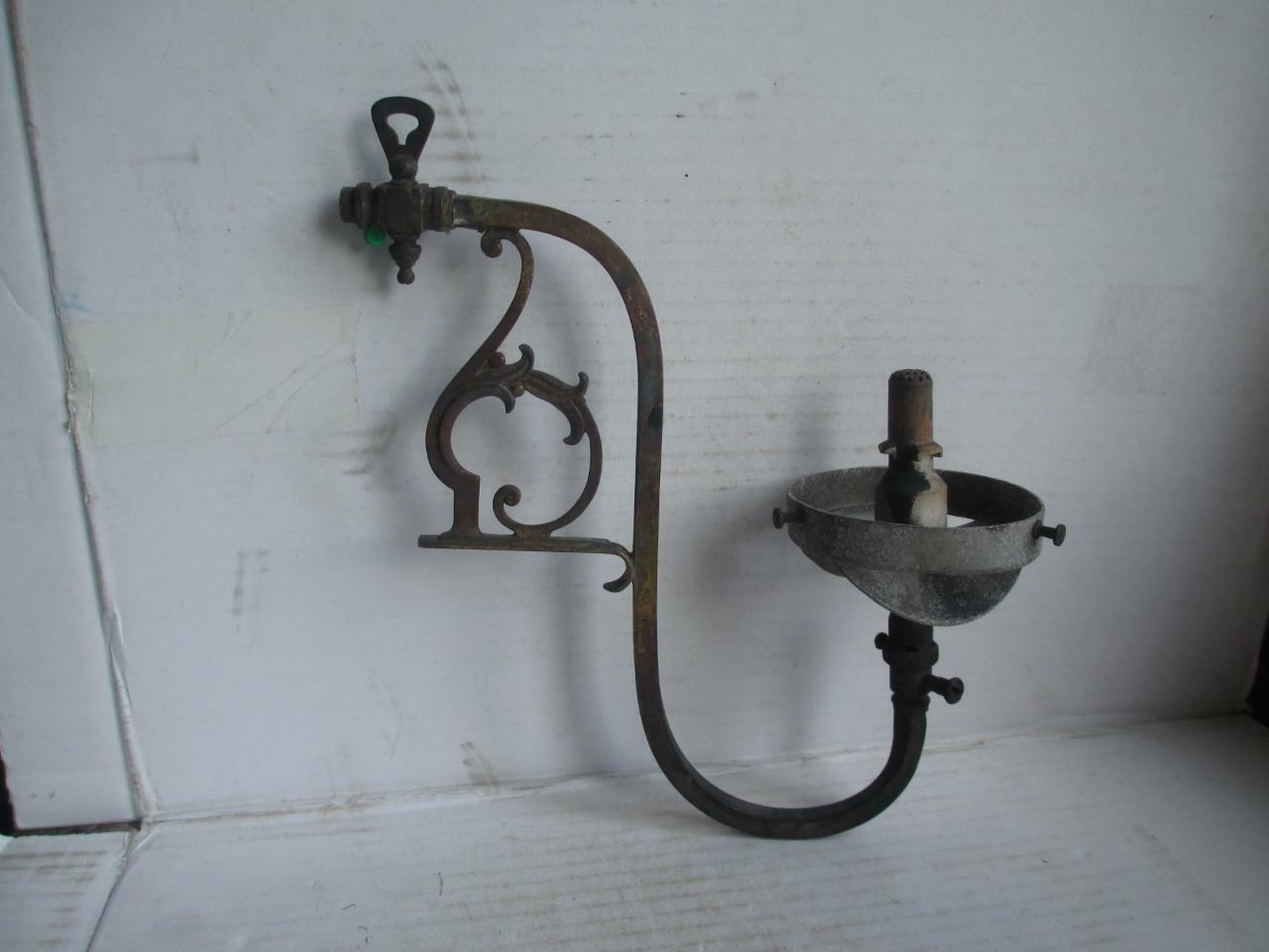 Wall Gas Lamps : Vintage Gas Lamp, Wall Light Fitting. Brass/aluminium. British Made. ?2.99 - PicClick UK
