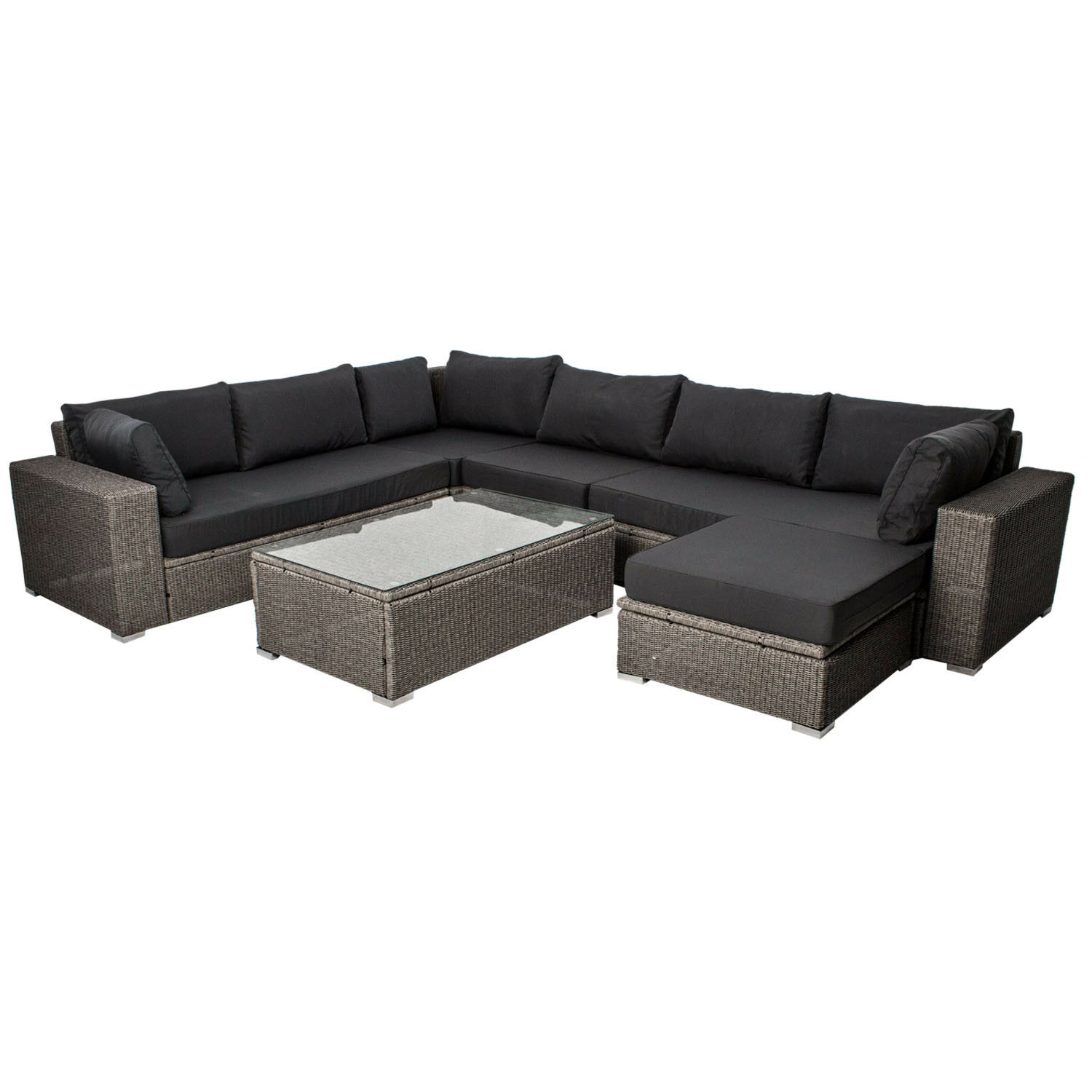 polyrattan gartenm bel lounge sitzgruppe gartenset rattan rattanm bel poly eur 899 95. Black Bedroom Furniture Sets. Home Design Ideas