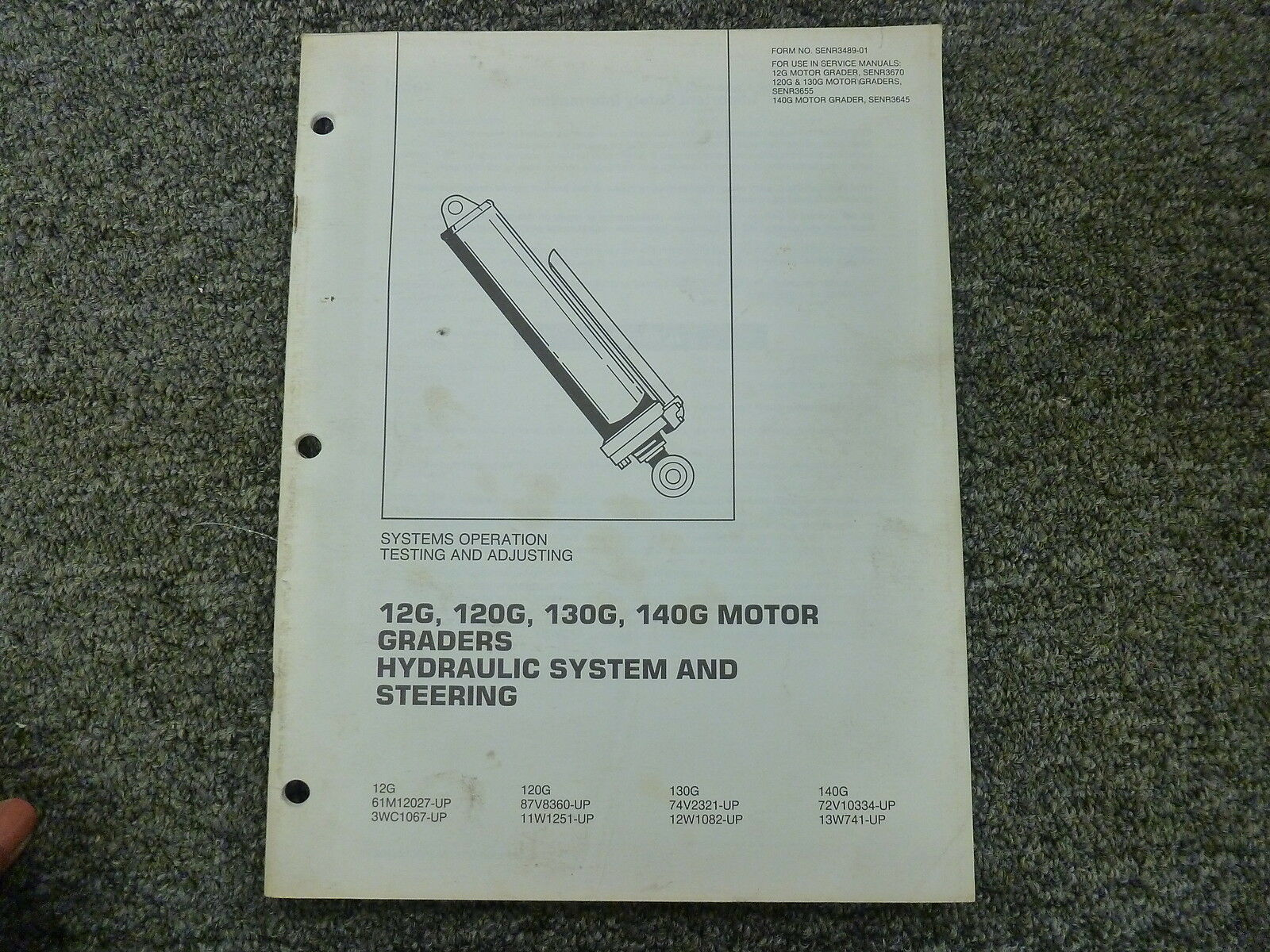Caterpillar Cat 12G 120G 130G 140G Grader Test & Adjusting Service Repair  Manual 1 of 1Only 1 available ...