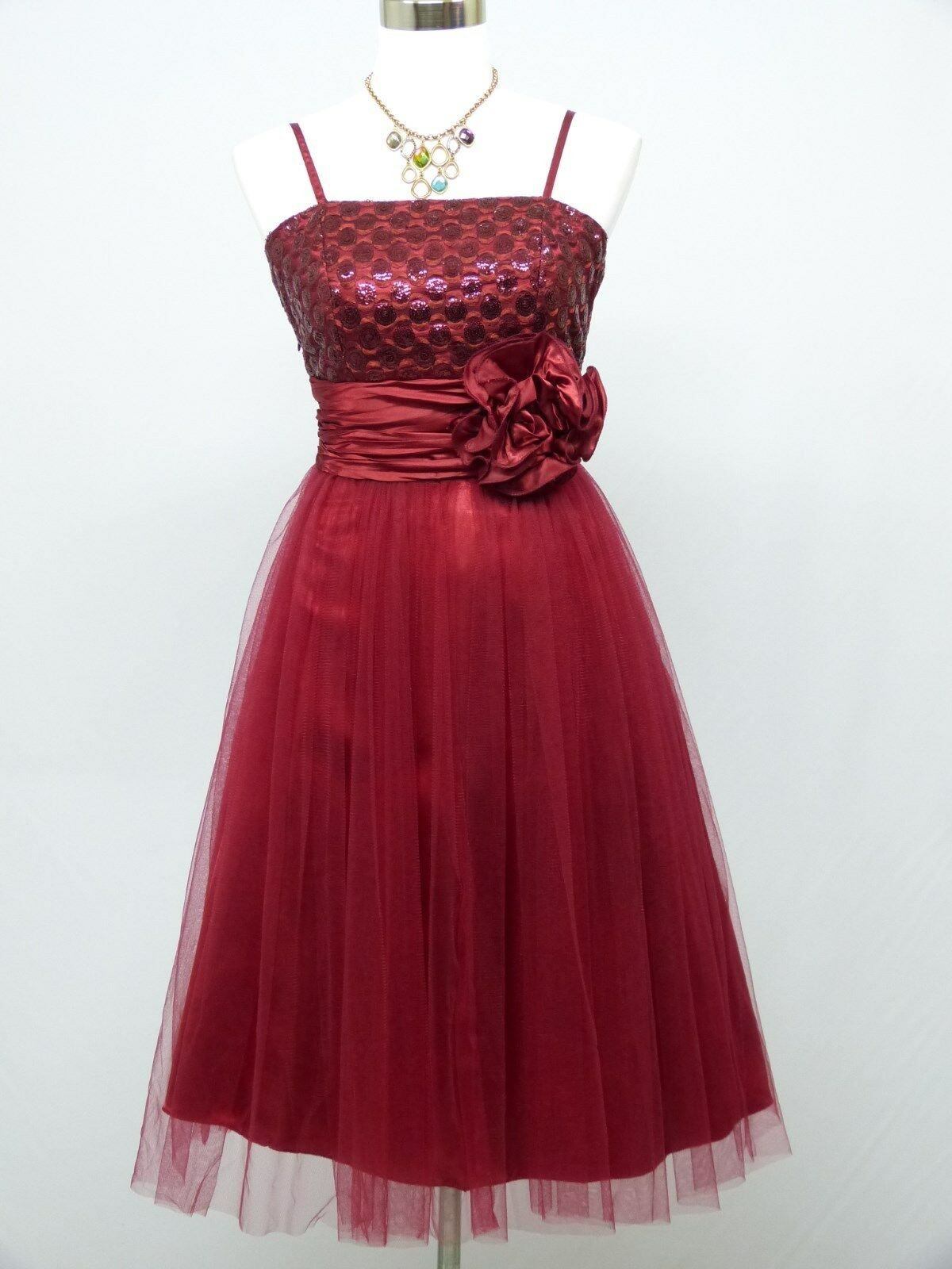 Cherlone Red Prom Party Ball Evening Formal Wedding