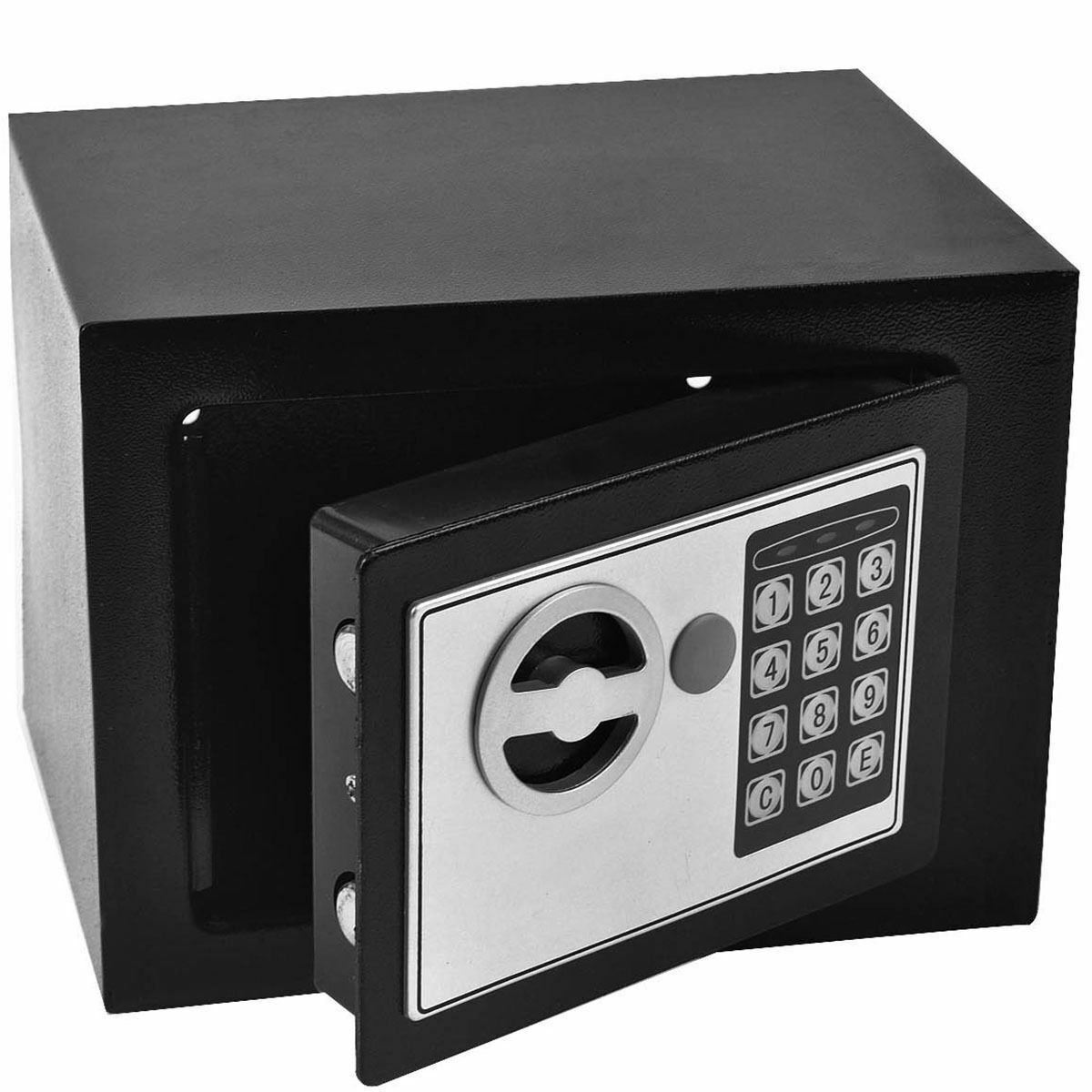 digital steel safe electronic security home office money cash safety box black. Black Bedroom Furniture Sets. Home Design Ideas