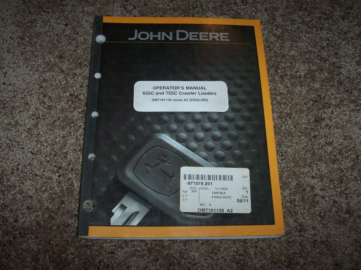 John Deere 655C 755C Crawler Loader Owner Operator Maintenance Manual 1 of  1Only 1 available ...