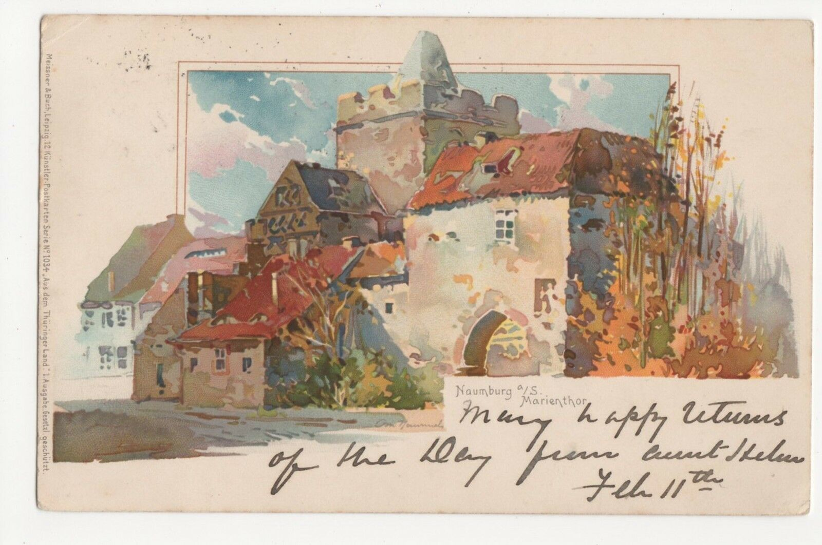 germany naumberg a s marienthor 1904 chromo postcard a539 picclick uk. Black Bedroom Furniture Sets. Home Design Ideas