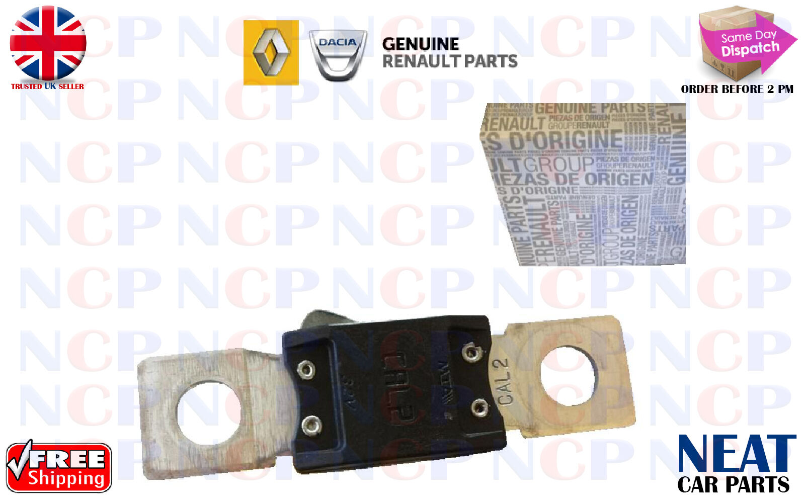 Renault Scenic Kangoo Master Trafic Battery Fuse Link Connector Cal2 Water In Box 8200177920 1 Of 1free Shipping