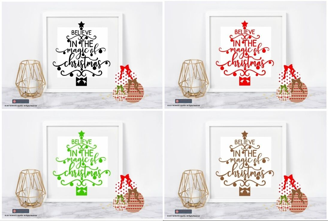 BELIEVE IN THE Magic of Christmas Vinyl Sticker for IKEA RIBBA BOX ...