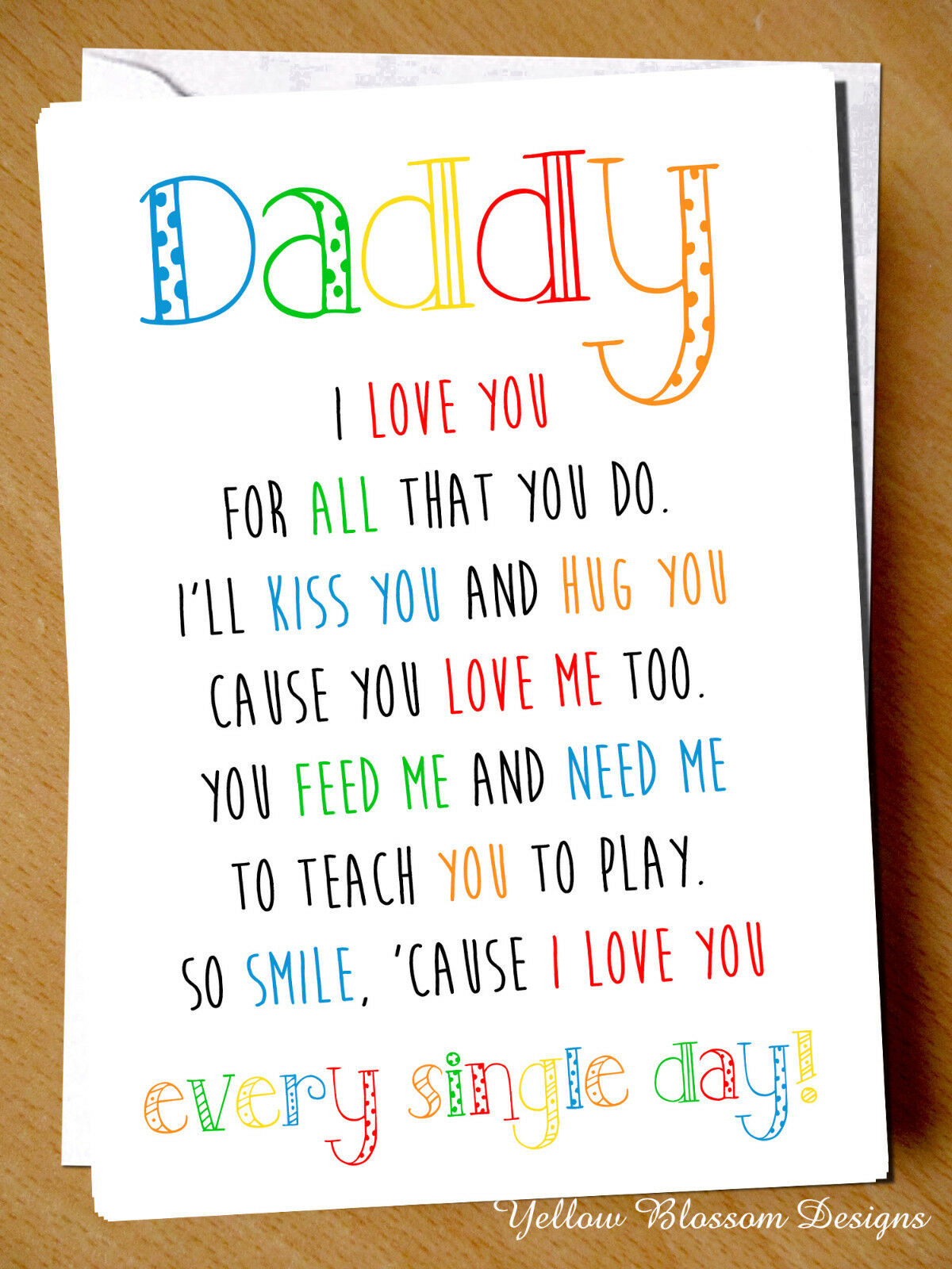 Greeting card daddy i love you birthday fathers day christmas 1 of 6free shipping m4hsunfo