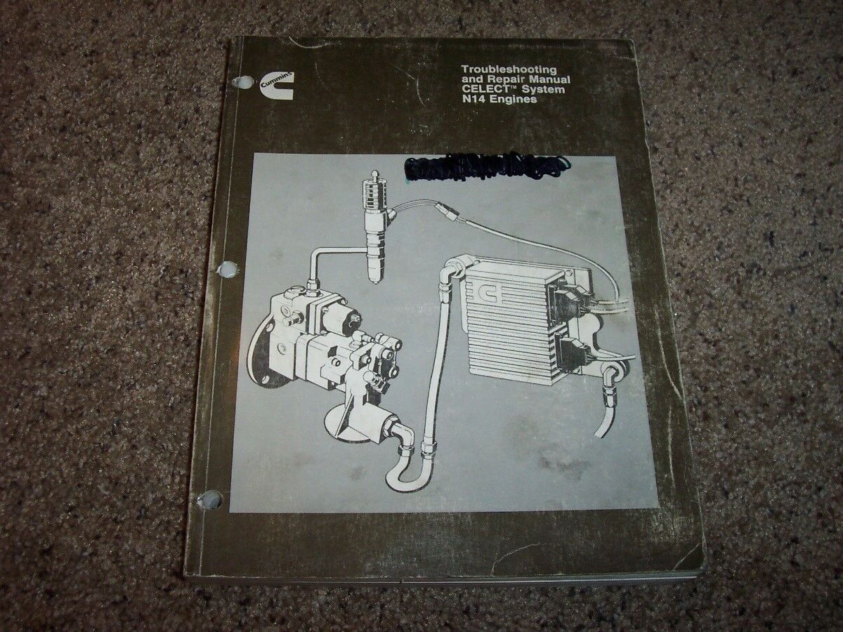 Cummins N-14 CELECT Diesel Engine Fuel Service Troubleshooting Repair Manual  1 of 2Only 1 available Cummins ...