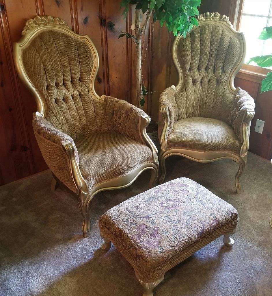 Antique Roseback Parlor Chairs Set And Stool Mint 1 Of 6Only 1 Available  Antique Roseback Parlor Chairs ...
