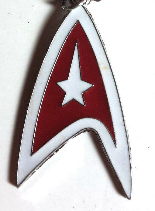 Star Trek Red Command Symbol 2 Necklace Wblack Chain Mailed From