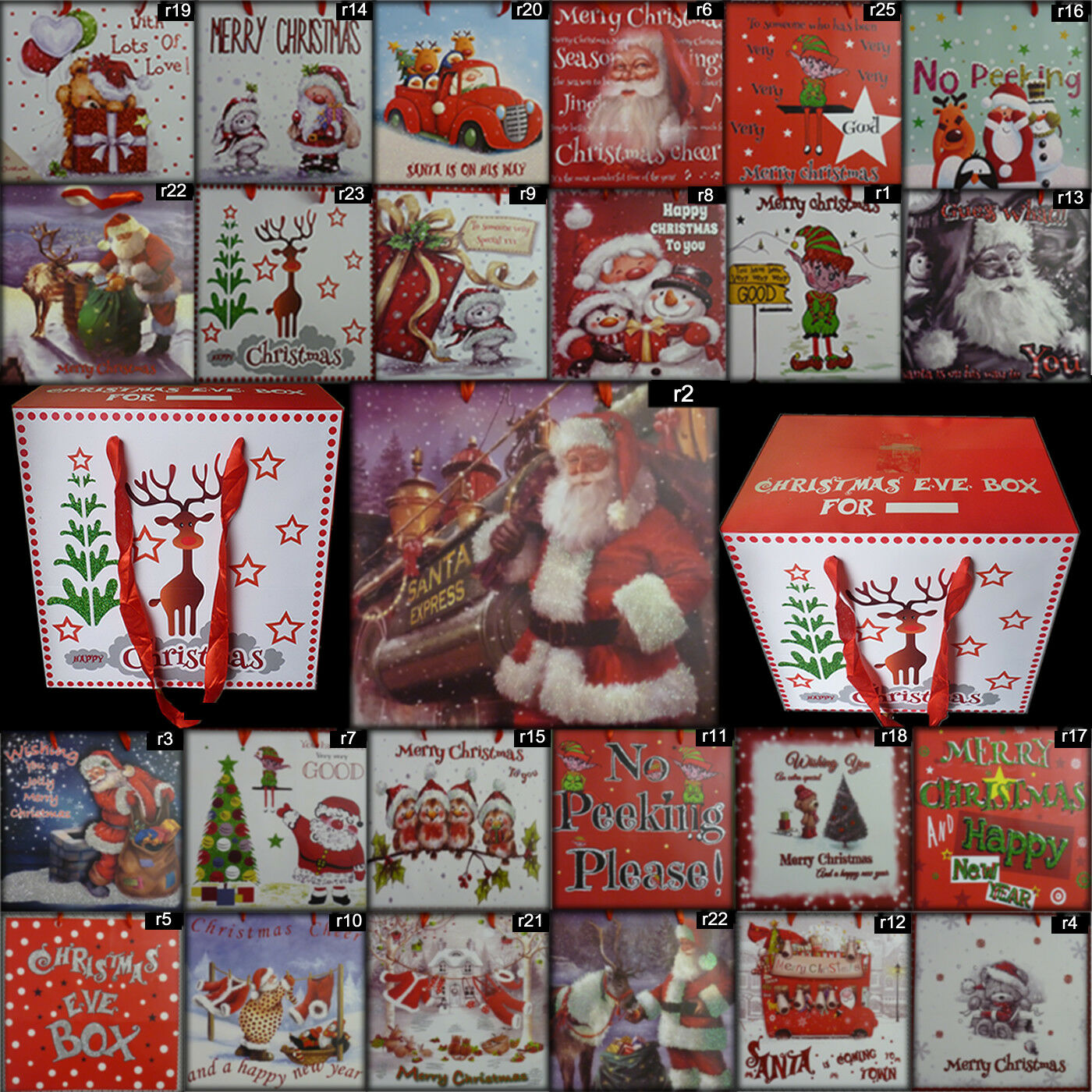 new christmas eve box xmas gift wrapping festive bag boxes ribbon handles 1 of 3free shipping see more