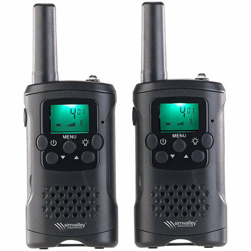 funkger t 2er set walkie talkies mit vox 10 km reichweite led taschenlampe eur 29 90. Black Bedroom Furniture Sets. Home Design Ideas