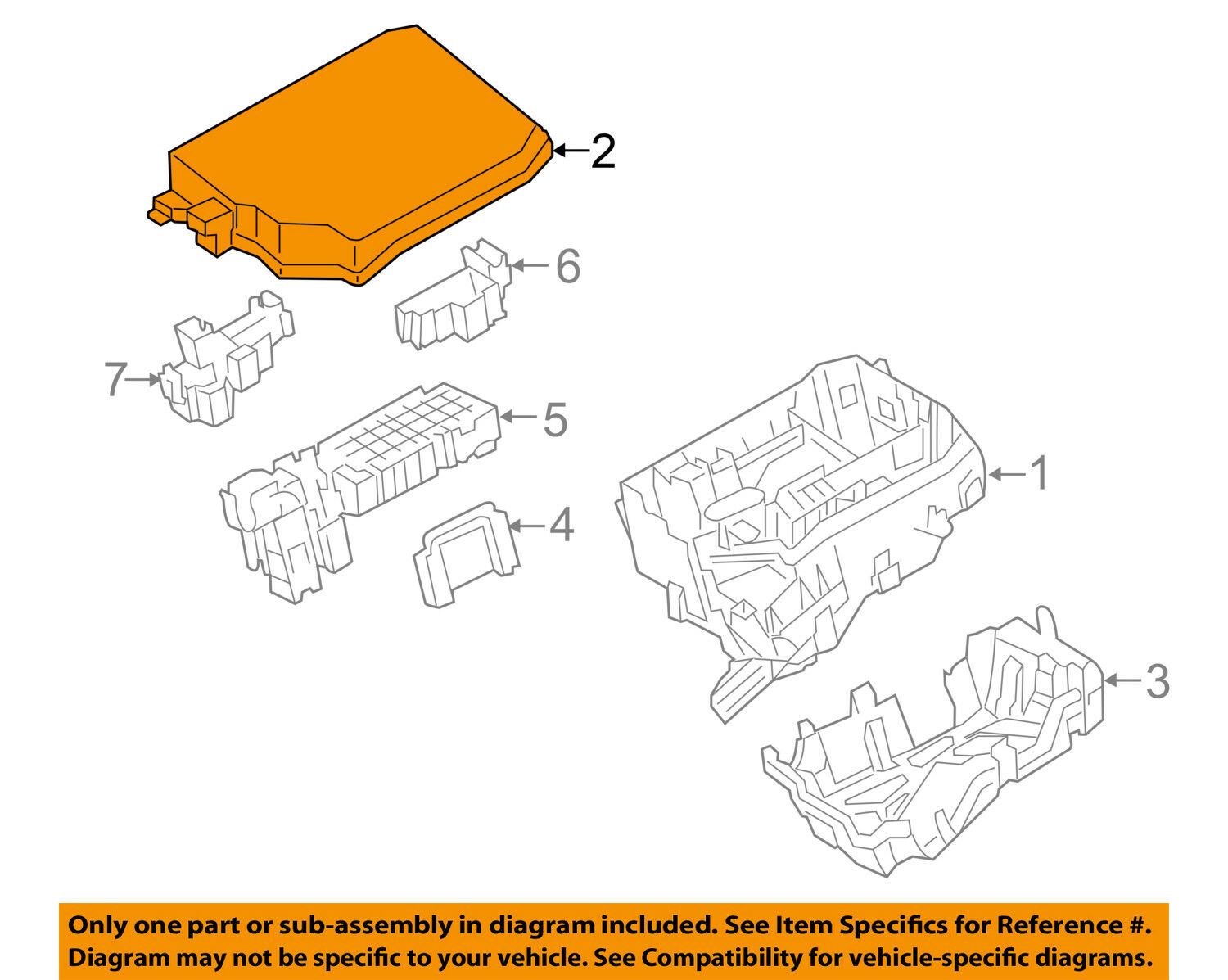 Toyota Oem 14 16 Corolla Electrical Fuse Relay Box Upper Cover Covers 8266202660 1 Of 2only Available See More