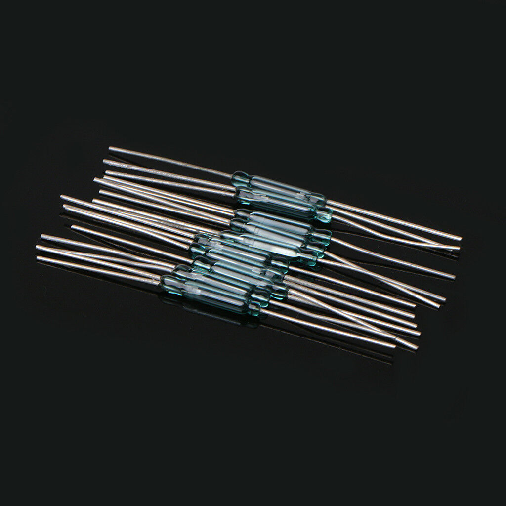 10 Pcs 25x14mm 3 Pin 4w Glass Reed Relay Magnetic Switches N O C Switch