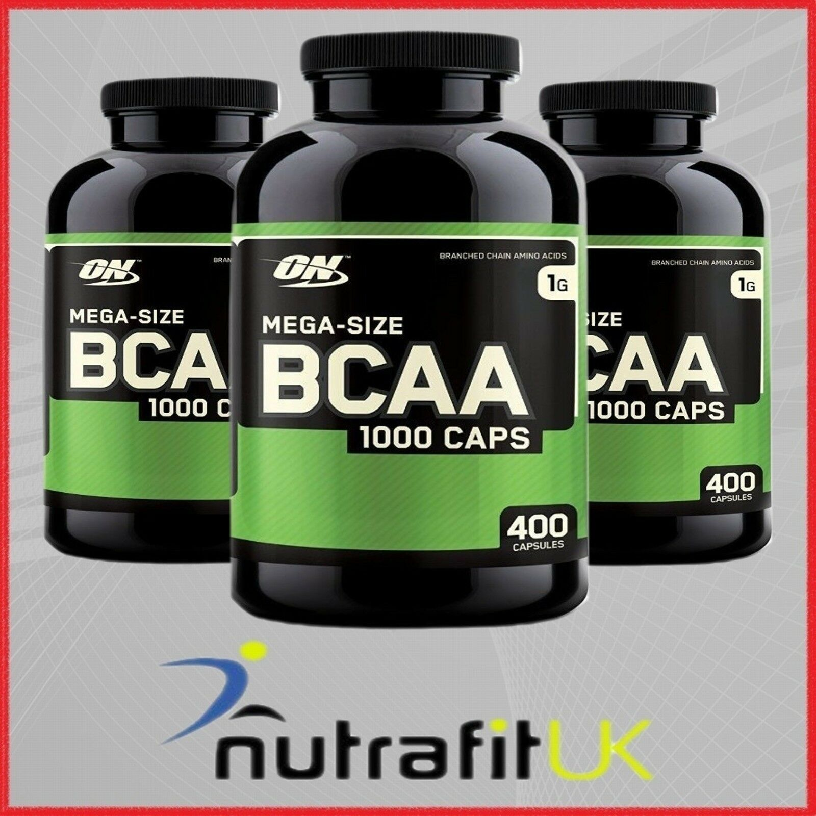 Optimum Nutrition Mega Size Bcaa 1000 400 Capsules Branched Chain Ultimate 500mg 120 Caps Amino Acids 1 Of 7only 2 Available