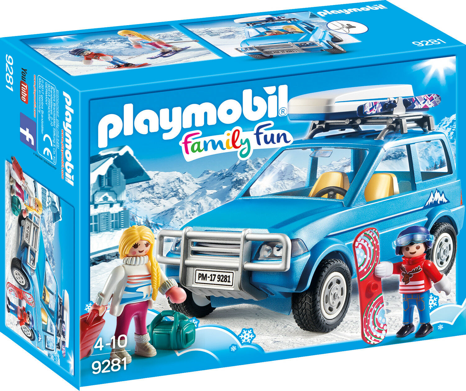 playmobil family fun 9281 auto mit dachbox neu ovp eur 18 88 picclick de. Black Bedroom Furniture Sets. Home Design Ideas
