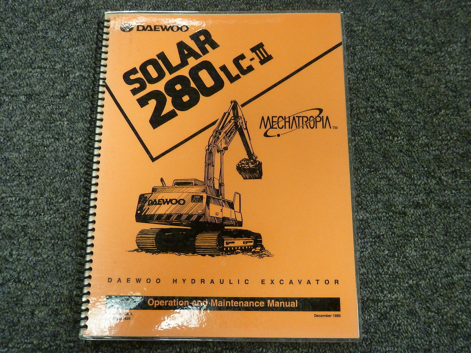 Daewoo Solar 280LC-III Hydraulic Excavator Owner Operator Maintenance Manual  1 of 1Only 1 available ...
