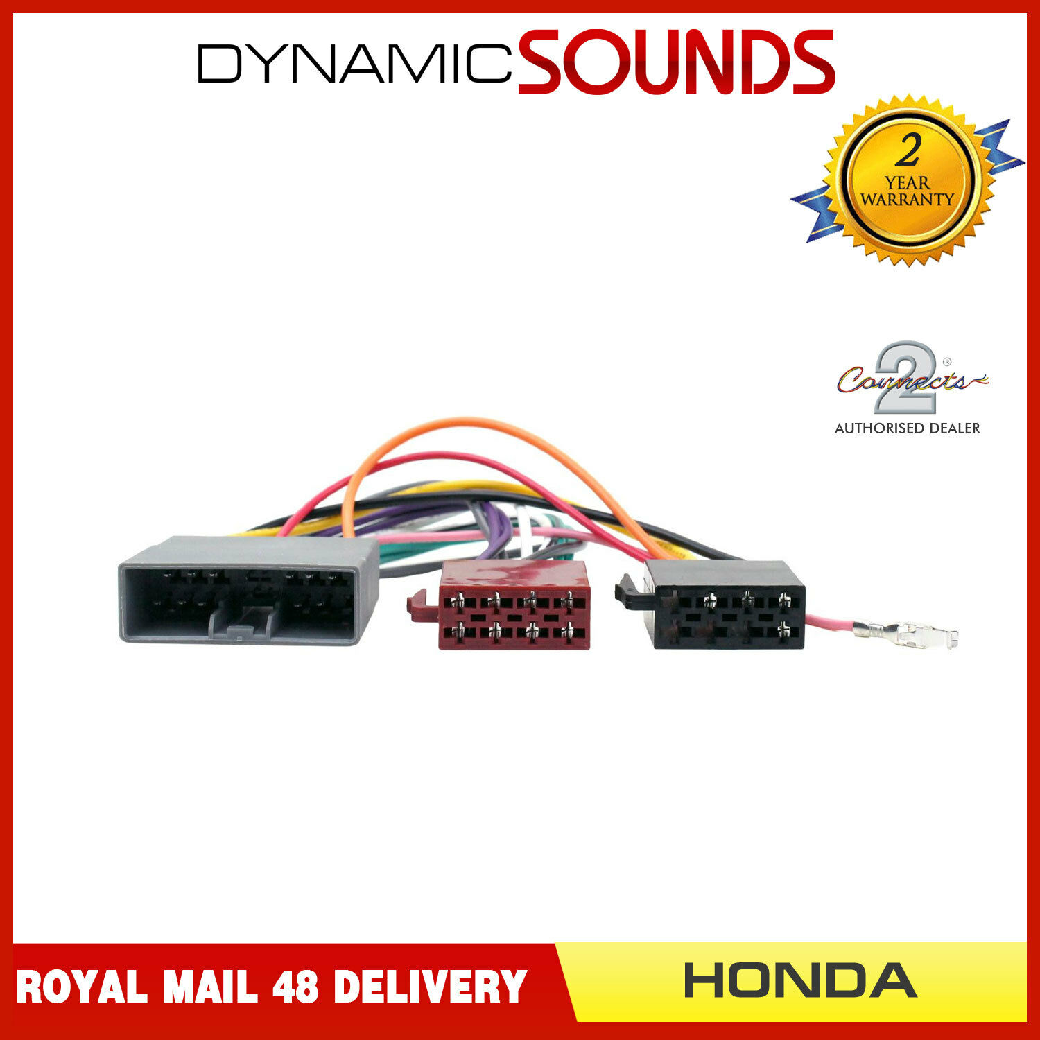 Ct20hd04 Car Stereo Iso Wiring Harness Adaptor Lead For Honda Civic Crv 1 Of 2free Shipping