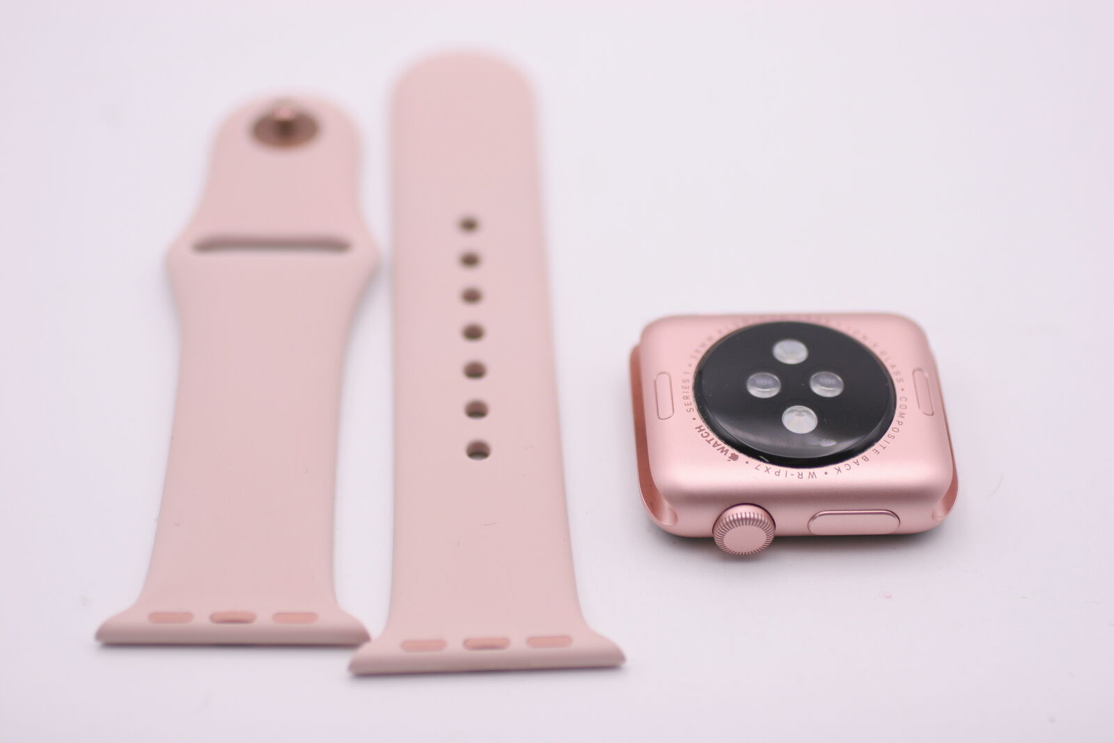 Apple Watch Series1 38mm Rose Gold Aluminum Case With Pink Sand 2 Series 1 Aluminium Midnight Blue Sport Band Of 2free Shipping