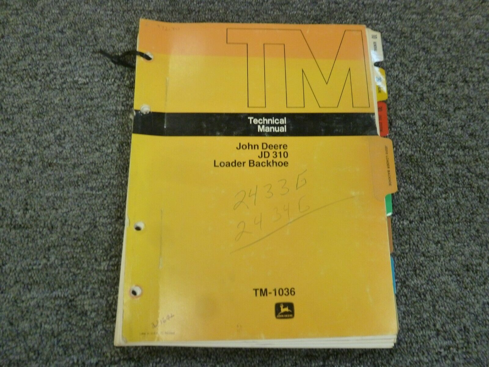 John Deere 310 Loader Backhoe Shop Service Repair Technical Manual Guide  TM1036 1 of 1Only 1 available ...