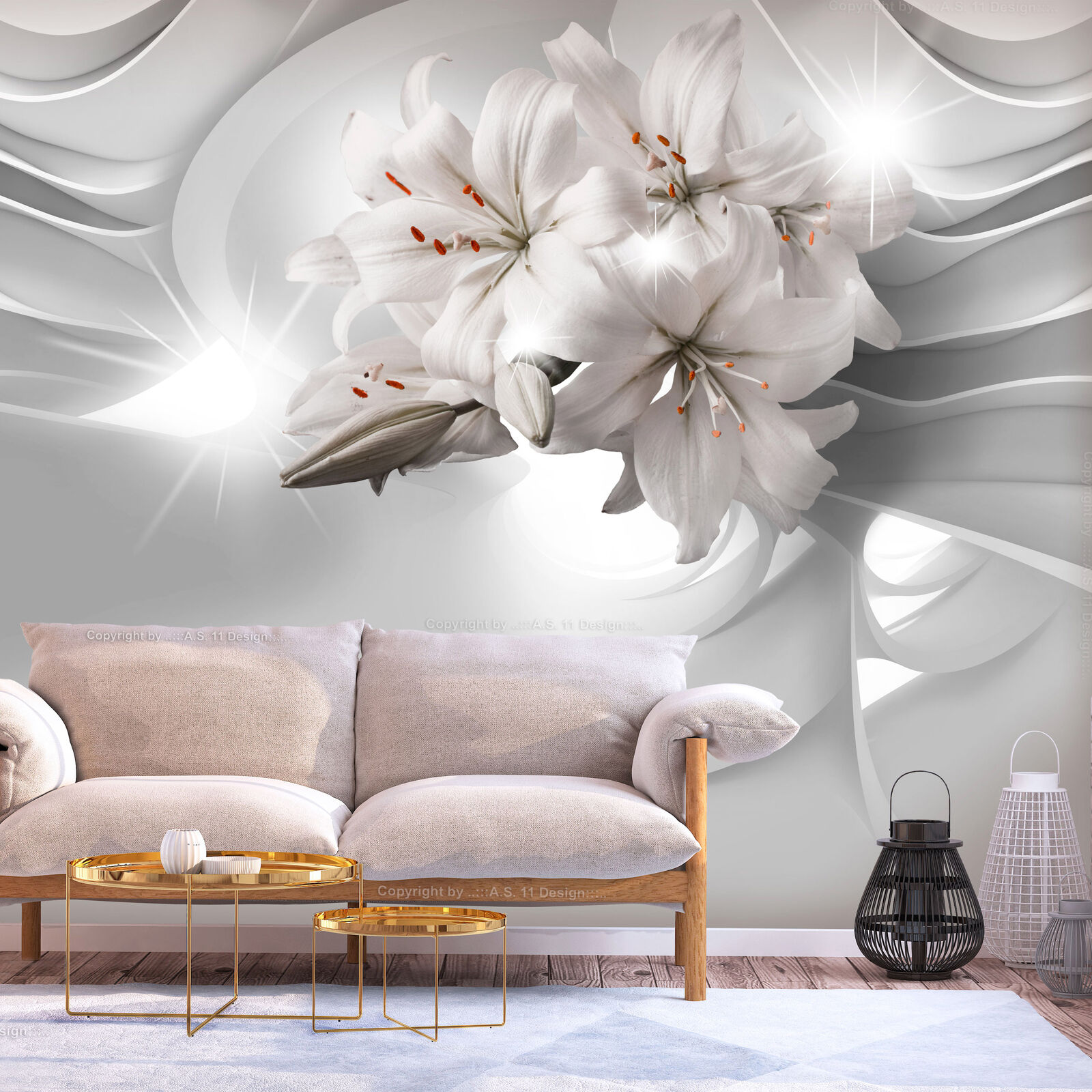 vlies fototapete 3d blumen lilien tapete xxl wandbild wandtapete b c 0203 a a eur 8 99. Black Bedroom Furniture Sets. Home Design Ideas