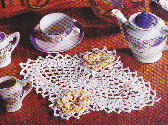 Crochet Pattern Pineapple Rose Doily Instructions 100 Picclick