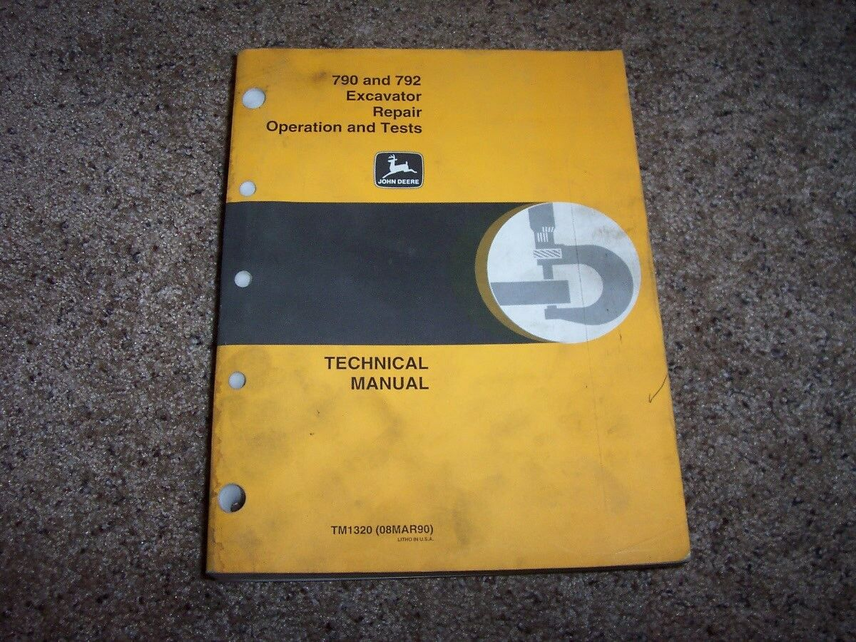 John Deere 790 792 Excavator Operation & Test Shop Service Repair Manual  TM1320 1 of 1Only 1 available ...