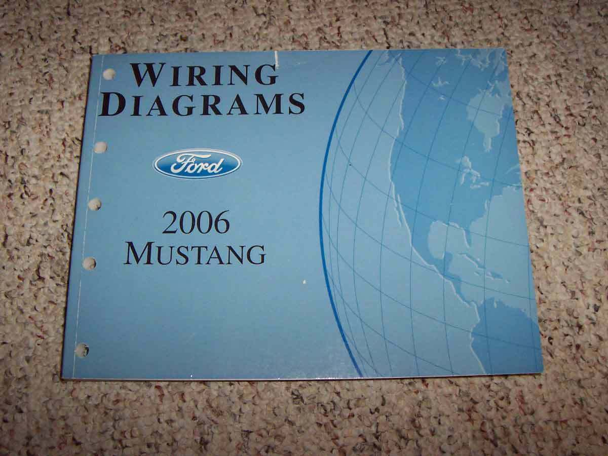 2006 FORD MUSTANG Electrical Wiring Diagram Manual Convertible GT V6 ...