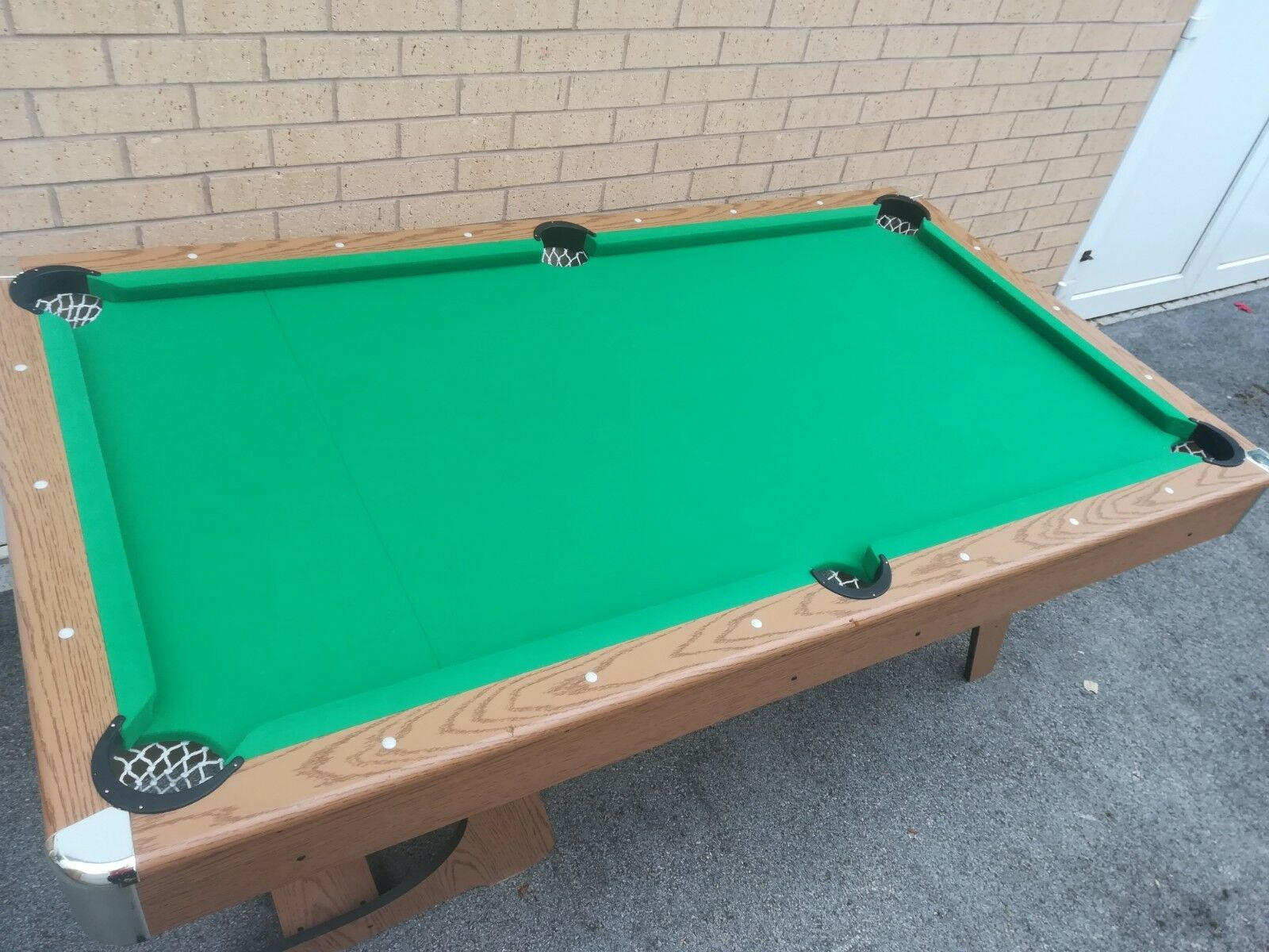 Used Fold Up Pool Table Que And Triangle Collection 65 00