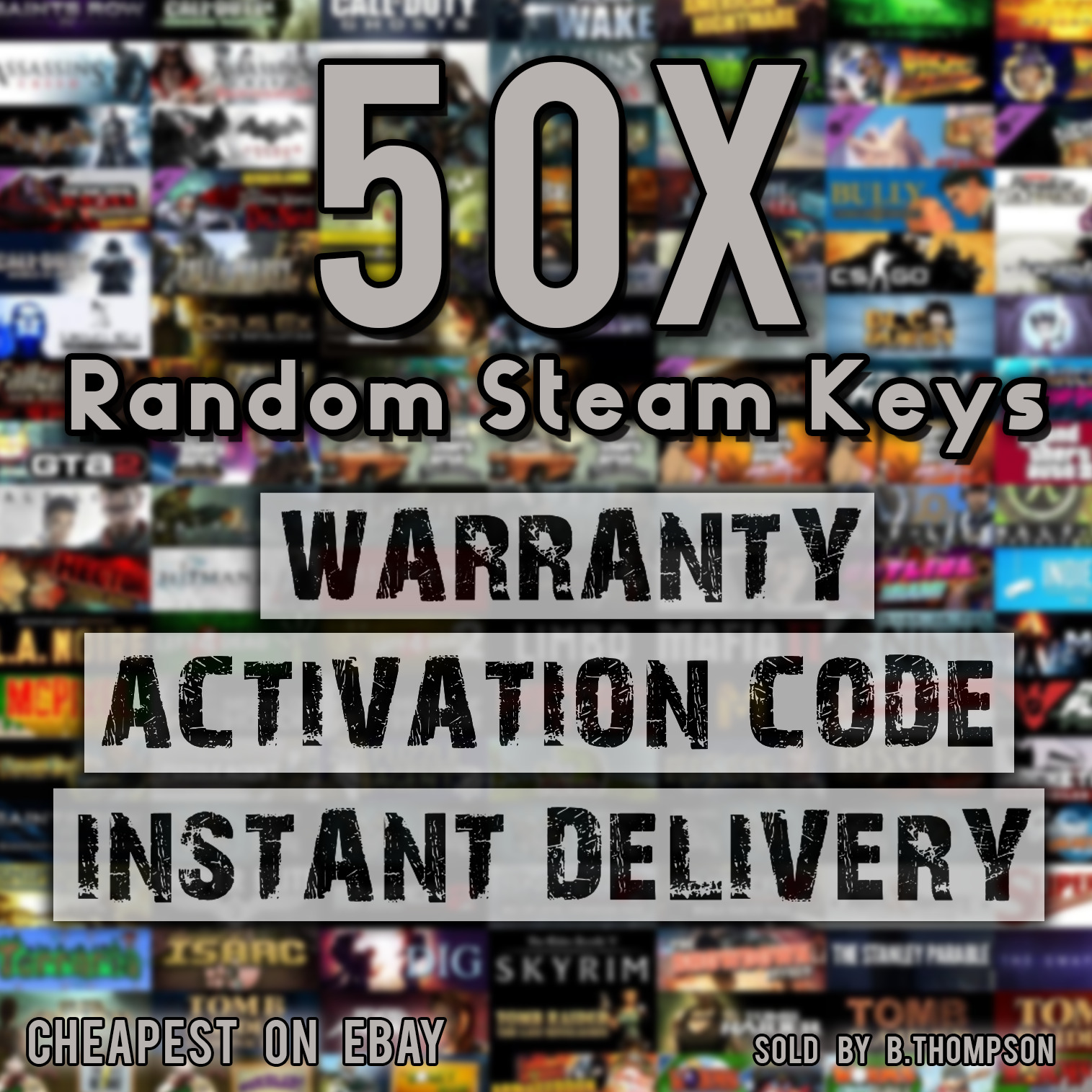 *CHEAPEST* 50 x Random Steam CD Keys *INSTANT DELIVERY* *GAMES WORTH UP TO  £40* • £6 49