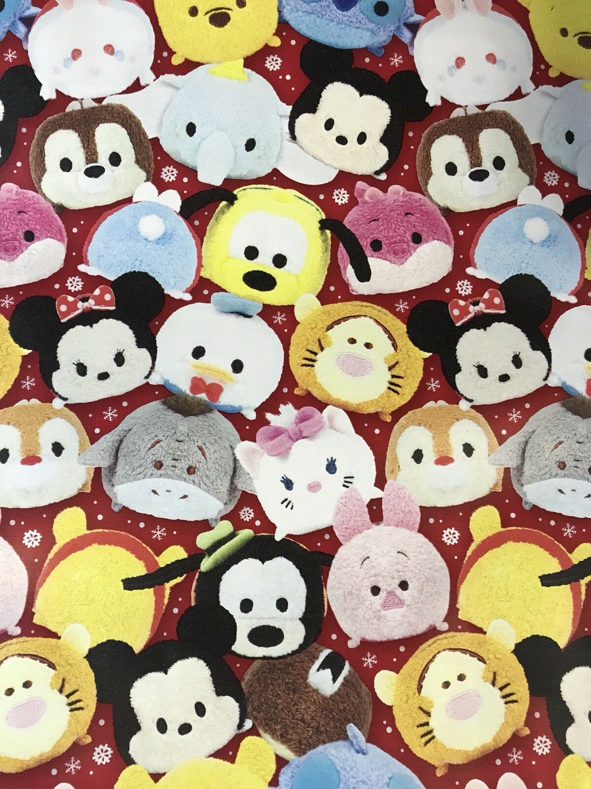 DISNEY TSUM TSUM Christmas Gift Wrapping Paper 60 sq ft roll wrap ...
