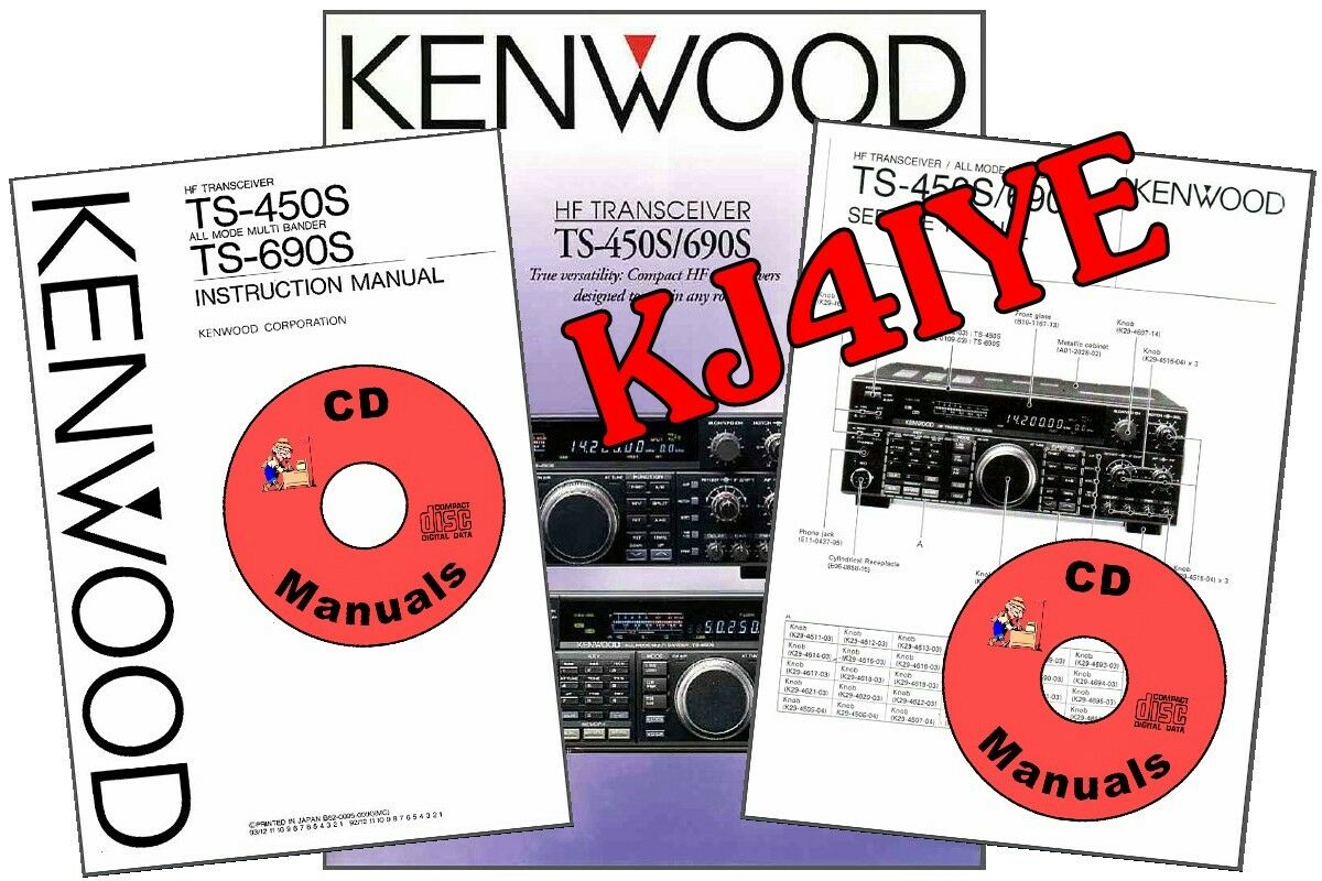 Kenwood TS-450S TS-690S CD OWNER'S & SERVICE MANUALS + TECH BRO Radio 1 of  5Only 3 available See More