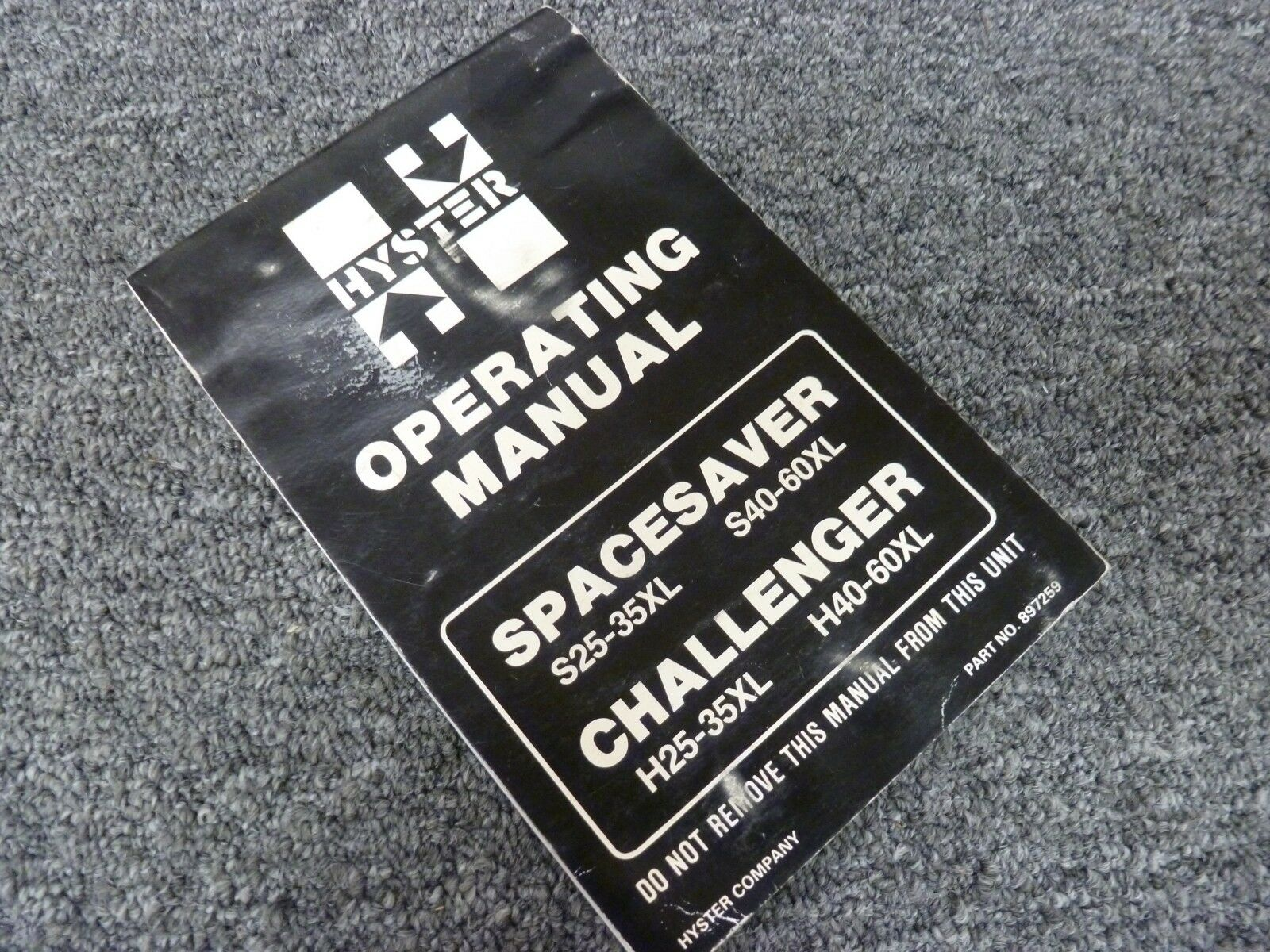 Hyster S40XL S50XL S60XL Spacesaver Forklift Lift Truck Owner Operator  Manual 1 of 1Only 1 available ...
