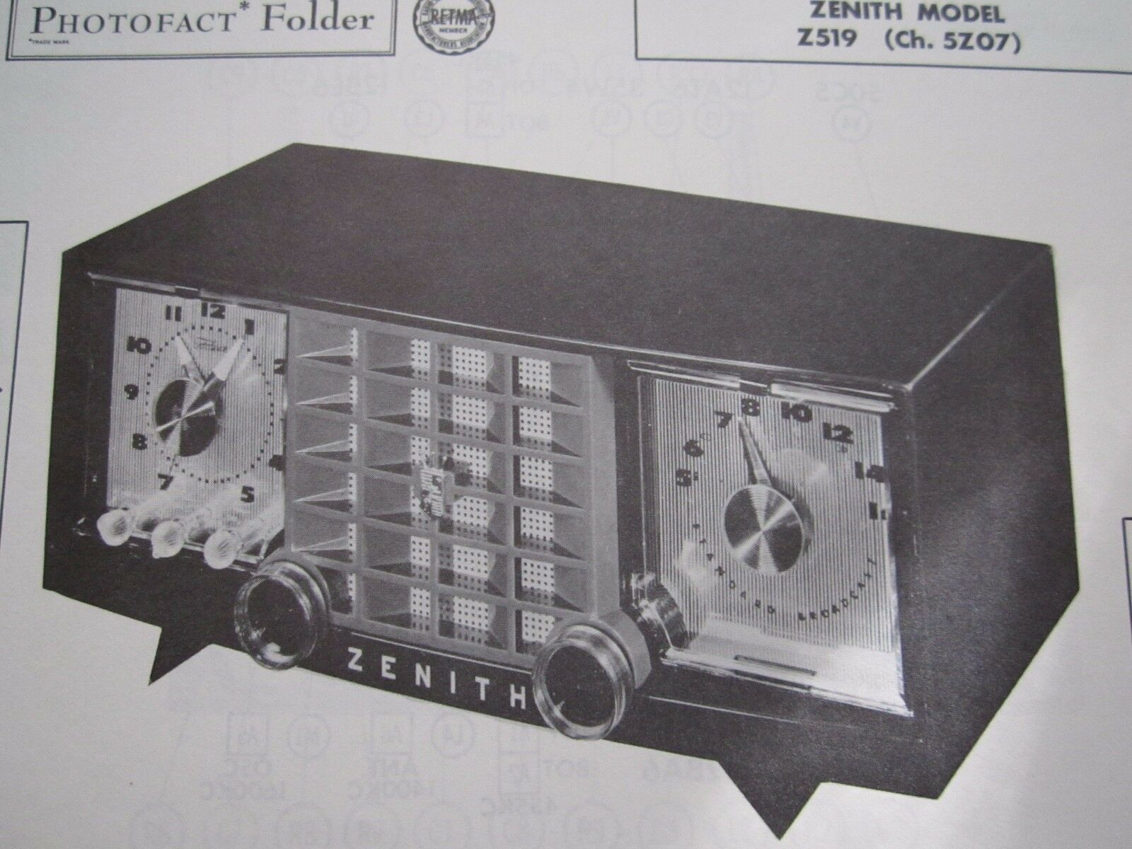 Zenith Z519 Radio Receiver Photofact 500 Picclick. 1 Of 1only 3 Available. Wiring. Zenith 5g03 Wiring Diagram At Scoala.co