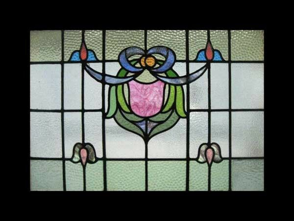 Fabulous Ornate Victorian Antique English Stained Glass Window
