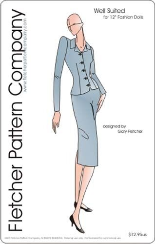 CLASSIC SUIT DOLL Clothes Sewing Pattern for 12\