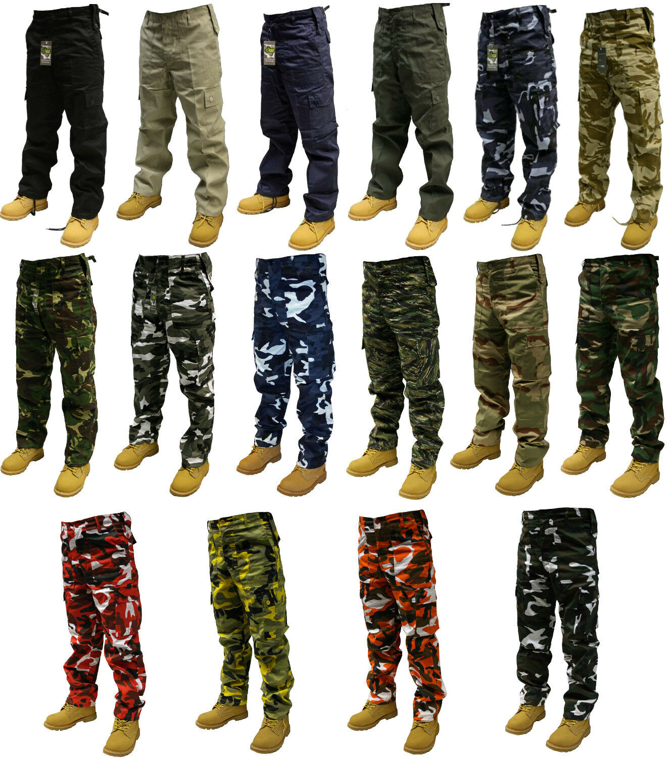 Army cargo camo combat military trousers pants 30 50 for Combat portent 30 18