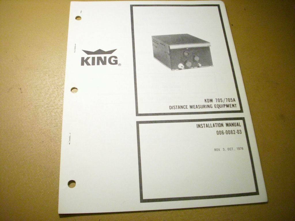 King KDM-705 and KDM-705A DME Install Manual 1 of 5Only 1 available See More