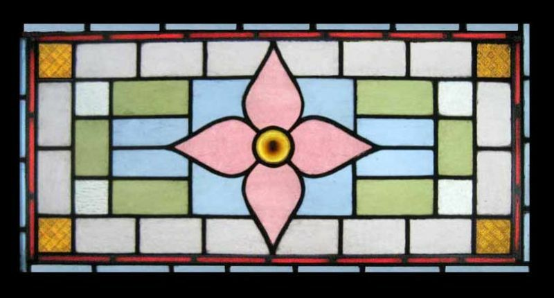 Victorian Antique English Stained Glass Window