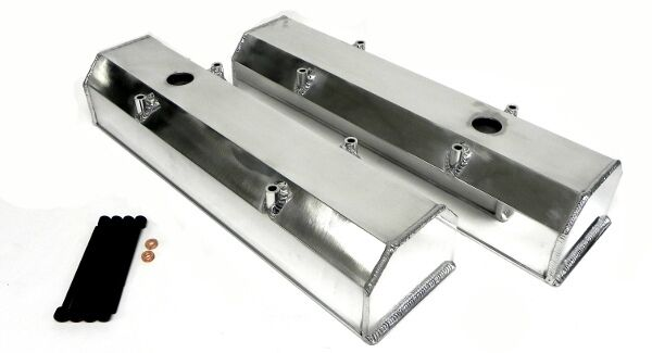 350 SBC TALL CHEVY FABRICATED ALUMINUM VALVE COVERS