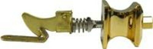Push Button Cabinet Latch with Square Knob  Brass B1446
