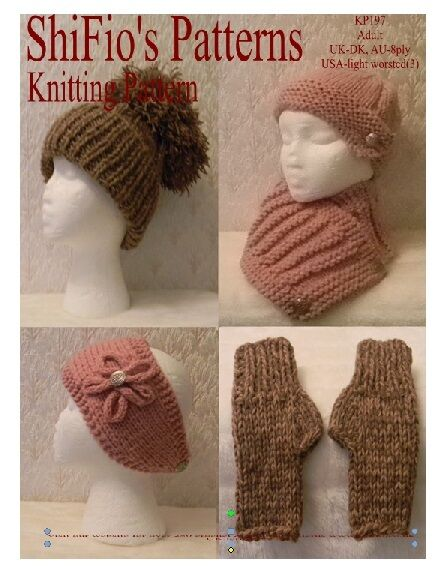 Knitting patterns for adult hats