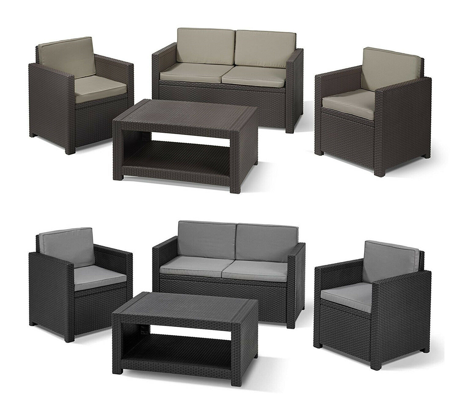 allibert monaco gartenm bel loungeset sitzgruppe m bel m belset terassenm bel eur 299 00. Black Bedroom Furniture Sets. Home Design Ideas